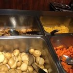Castle Hotel - the good selection of vegetables served with the carvery in the hotel restaurant