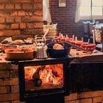 Pratos Servidos no Fogão a Lenha em almoços