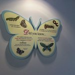 Informational display at the Day Butterfly Center