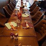 Table réservée par un groupe