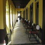 Corridor outside rooms.