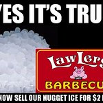 Folks love our pellet ice. Fill up your cooler.