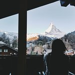 Beautiful, unobstructed view of the Matterhorn from our room