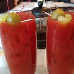 A good to great bloody Mary from the Blue Door.....   Good way to start the day.
