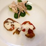 Rabbit with marinated peppers and bagna cauda