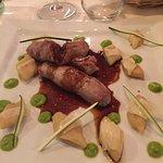 La 50ème : roulade de veau garnie au prosciuto et au parmesan, avec ses gnocchis. Un pur délice