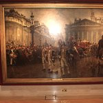 A large painting of the Lord Mayor's procession in 1888.