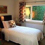 Single, ground floor room with en-suite shower room