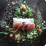Thunfisch, in Soja gebeizt (Vorspeise)