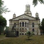 Nicolas Hawksmoor's St. George-in-the-East church behind the Inn