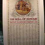 Factory WWI Roll of Honour.
