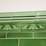 Period tiles on the wall.
