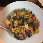 Three colour pasta with calamari. Must TRY!