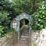 Gateway to steps leading up to the Little Chapel of Guernsey