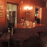 Piano in the dining room.