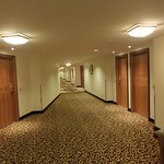 Long corridors with moquette ...
