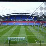 Bolton Wanders FC pitch. View from our room #326