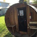 New Barrel Sauna addition