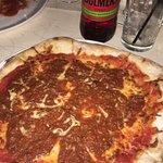 potato skins and bolognese pizza