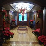 Lobby at Christmas, Prince of Wales, NOTL, ON