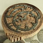 Wooden astrolabe with brass dial probably made for teaching purposes Egypt Ottoman Period 1517 -