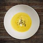 BUTTERNUT SQUASH BISQUE king crab | toasted pepitas | creme fraiche