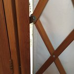 gap in yurt by the door frame