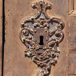 Escutcheon on the outside of the main door