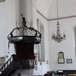 Pulpit and Chandalier