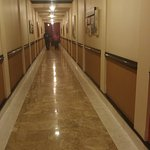 The long, long hallway between IP Hotel and the Casino