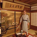 Barry in our room. He is wearing the robe that the Hiirogiya supplies to each of their guests.