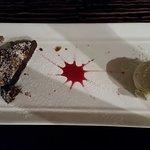 Nice chocolate slice, not overly sugary