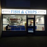 Marine fish and chips