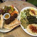 Vegetarian mezze platter for 2 (mediocre unfortunately)