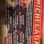 Michelada menu