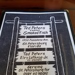The cover of the menu.