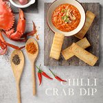 Chilli Crab Dip with Breadsticks