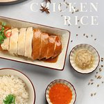 Our Signature dish, the Yin Yang Chicken Rice!