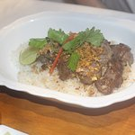 Fried Diced Lamb With Garlic and Black Pepper @ Emporium AnotherHound Cafe