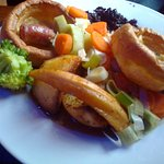 A delicious roast lunch at The Plough, Tiptoe