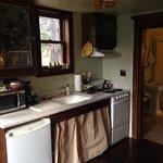 kitchenette + bathroom door