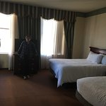 We stayed in a two queen suite and liked the large room.