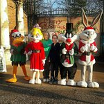 Myself and my Grandson with the characters! What an awesome day we had!!!