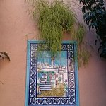 One of the many tiled reliefs in the main courtyard.