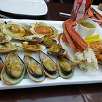 Grilled seafood platter - the abalone was the best!