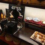 The Belgian Waffle station
