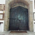 Old front doors of Town Church, St. Peter Port, Guernsey