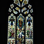 Stained glass window of Presbytery, Town Church, St. Peter Port, Guernsey