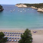 Beautiful view from the room of the beach Cala Galdana