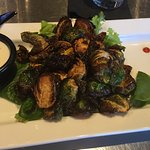 Buffalo Brussel Sprouts; sounds weird, but they were GOOD!!!